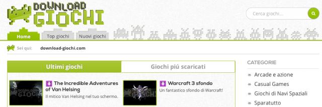 Download-Giochi.com, un nuevo portal de juegos italiano