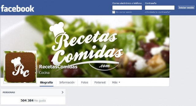 RecetasComidas.com supera los 500.000 fans en Facebook