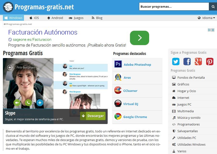 Presentamos «el nuevo» Programas-Gratis.net